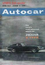 Autocar magazine 26/4/1963 featuring Jaguar E-type fixed head Coupe road test