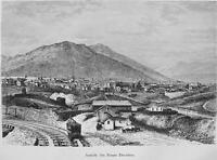 NEVADA View of Mount Davidson - 100+ Years Old Antique Print