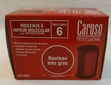 Caruso Professional Steam Jumbo Rollers 6pk w/shields, Red Fits all Caruso set