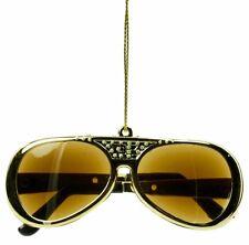 Kurt Adler Elvis Presley Sunglasses Ornament Gold Decorative Holiday
