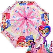 Shimmer and Shine Kids Umbrella Nickelodeon  Girls Pink Paraguas