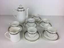 Vintage Salon S&N Small Tea Set Teapot 6 X Cups & Saucers Plus Milk Jug