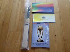 World Cup England 99 The Final Programme Pakistan v Australia + Miniature Bat