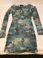 MOTEL ROCKS Shimiye Dress in Mesh Angel Sky Blue   (MR4.1)