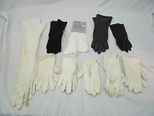 Vintage Leather Gloves, 7 Pair, 2 Pair Fabric Gloves
