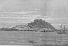 La guerra civil en España. Alicante, bombardeados por el intransigentes, impresión, 1873
