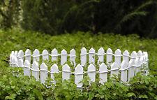 "Miniature Dollhouse FAIRY GARDEN Furniture ~ White Wood Picket Fence 1"" ~ NEW"