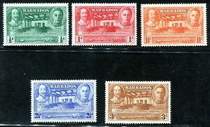 Barbados 1939 Tercentenary of General Assembly MH aXF SG#257-261 Complete