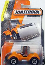 Tokaland Matchbox 2014 25/120 Mbx Orange Tractor Plow Truck