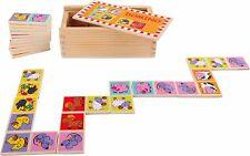Domino Zootiere Spiel aus Holz Tiere Legespiel Kinderdomino Dominospiel Kinder