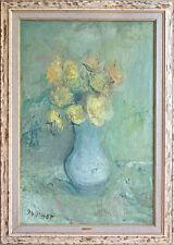 Gabriel Dauchot (1927-2005) huile sur toile dimensions 81 x 54 cm Vase aux roses