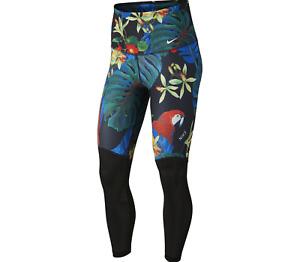 Womens nike Power 7/8 High-Rise Training Leggings Floral AR0776-010