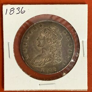 * 1836 * CAPPED BUST HALF-DOLLAR * HIGH GRADE FROM ORIGINAL COLLECTION