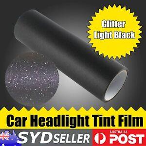 Car Glitter Light Black Headlight Tint Smoke Film Fog Lights Lamp 1.25M x 30cm