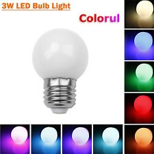 RGB LED Blub Light Auto Color Change E27 3W Coloful Globe Lamp 110V 220V Decor K