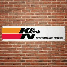 K&N Air Filter Banner Garage Workshop PVC Sign Display Performance Filters