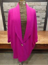 Hoss Intropia Cashmere Sweater Cardigan Fuschia Women's Size S NWT $458 Runs Bg