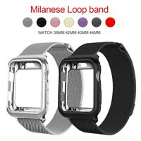 Milanese Loop Magnetic Band Strap + Case 44/42/40/38mm For Apple Watch 5/4/3/2/1