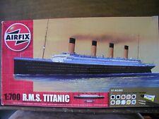 1/700 Airfix R.M.S. TITANIC model kit w/Paint, Brushes, Glue White Star Line NEW