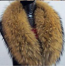 100% Real Genuine Raccoon Fur Collar Scarf Shawl Wrap attach to coat