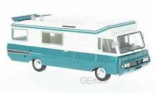 Camping-cars miniatures bleus 1:43