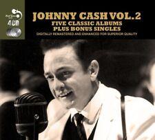 JOHNNY CASH - 5 CLASSIC ALBUMS PLUS 4 CD NEW!