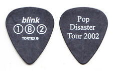 Blink-182 Mark Hoppus Pop Disaster Tour Black Guitar Pick - 2002 Tour