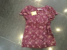 NWT Juicy Couture New & Genuine Silk Blend Girls Age 8 Purple Floral Blouse