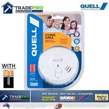Smoke Alarm Fire Detector Chubb/Quell® Ionisation Aus Certified Bonus 9V Battery