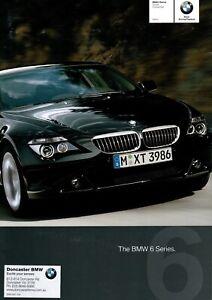 BMW 645Ci 6 Series E64 Convertible Coupe Brochure Australian Market 2.2004