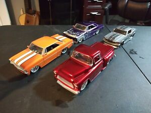 Jada car set 4 cars off the trophy case as shown 1/24 Scale see pics used as is