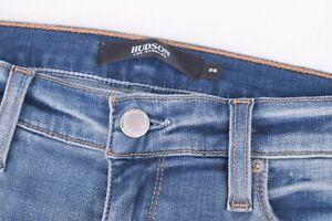 Hudson NWT Cotton Blend Blue Jeans Size 26W Nico Midrise Cigarette $215