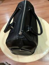 Furla Black Saffiano Leather Speedy Satchel Doctor Hand Bag Auth
