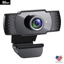 Webcam HD with Microphone Web Camera USB 2.0 for PC MAC Desktop Laptop Computer