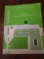 New listing vintage 1974 Singer Stylist Model 734 Zig-Zag Sewing Machine Instruction Book