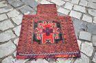 Fabulous Antique Rare Salt Bag 17''x22'' Wondeful Tribal Mushwani Salt Bag Rug
