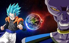 Poster A3 Dragon Ball Super Gogeta Super Saiyan Blue Beerus