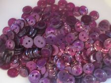 LOT OF 250 PURPLE/PLUM COLOR 2 HOLE 7/16 INCH BUTTONS, NEW