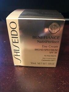 New SHISEIDO Benefiance NutriPerfect Day Cream SPF18 Pro-Fortifying 1.8 oz.