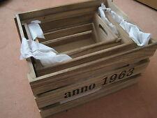 Holzkiste Dekokiste Kiste Obstkiste als Deko natur 3 Stück *NEU*