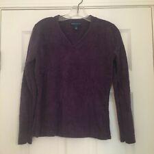 Karen Scott Women's Soft Nylon Purple Sweater Comfort V-Neck Size PS