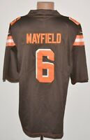 NFL CLEVELAND BROWNS AMERICAN FOOTBALL SHIRT NIKE SIZE XL ADULT BROWN#6 MAYFIELD