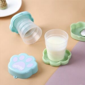 Portable Silicone Cartoon Cat Claw Cup Children Drinkware Folding Coffee Cup