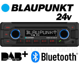 24v Radio Stereo Cd-Spieler Blaupunkt Dubai 324 DAB BT Bluetooth USB Aux Bus Lkw