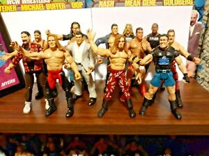 Jakks Titan Tron wwf wwe wrestling figure lot the rock kurt angle mick foley