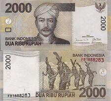 Indonesia P148a, 2000 Rupiah, Prince Antasari / Dayak Head Hunters of Borneo UNC