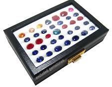 TOP GLASS JEWELRY LOOSE GEMSTONE DISPLAY BOX ORGANIZER SHOW CASE 10x15 CM 5 ROWS