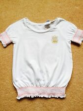 REPLAY & SONS/ DESIGNER T-SHIRT,TOP/ SIZE XX SMALL, AGE 6-7/ WHITE & PINK COTTON
