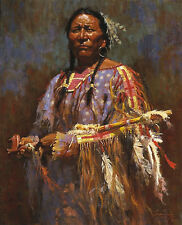 MEDICINE PIPE FRAMED LIMITED EDITION PRINT BY HOWARD TERPNING