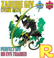 6IV ZARUDE ⚔️ Event 2020 🛡 for Pokemon SWORD & SHIELD ⚔️ Legit & Perfect